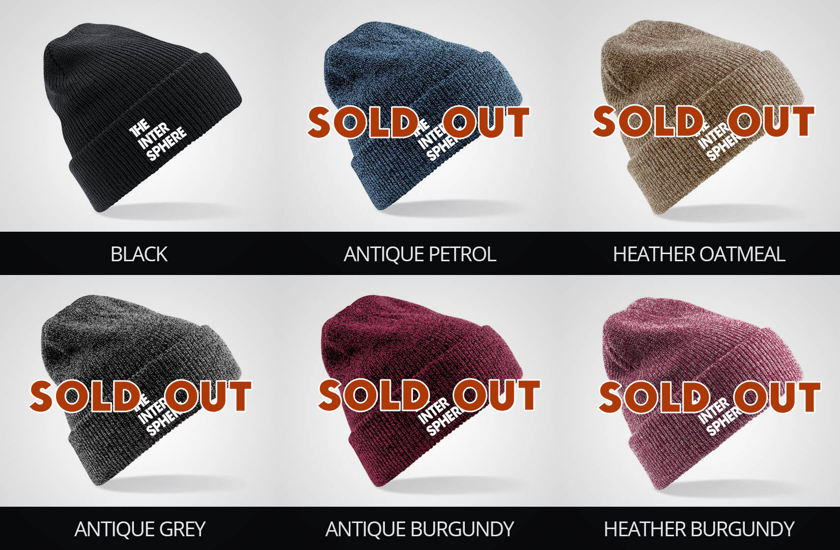 The Intersphere Beanie colors